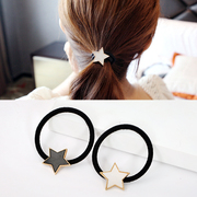 Know Richie simple Joker five-pointed star made of diamond rope cute ponytail hair band hair band hair accessory jewelry