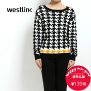 Westlink/XI new Millennium 2015 winter bird head knit base crewneck long sleeve women's sweater