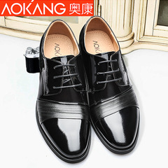 Aokang shoes men's business dress leather shoes new style fashion men's shoes with leather pointed shoes men's authentic