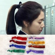 Know Connie hair accessories new band Korea hair band hair accessories Korean rope provided flower hair Super shiny film