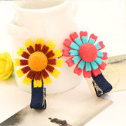 Know Richie children''s hair accessories Korean version of the furry little flower hairpin girls hit the color card cute Princess clip jewelry