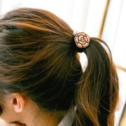 Know Connie hair accessories hair band Korea hair band rope made by Korean headdress retro Pearl bow hair tie