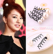 Know Connie hair Korea yienhuizhenzhu spiral hair clip hairpin ball bud first hair tools