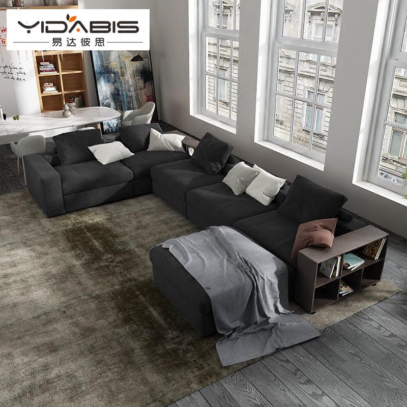 YDBS北欧客厅大小户型储物现代可拆洗简约布艺沙发组合