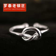 Chandos and old silversmiths 925 sterling silver Japanese and Korean women simple creative cut open love ring engraving ring