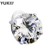 YUKI earrings flashing diamond 925 people men and white fungus nail accessories earring exaggerated male ornaments nightclubs earrings