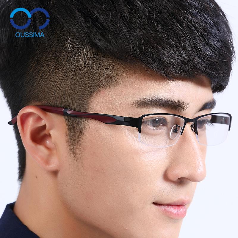 钛合金近视眼镜框男防辐射眼镜眼镜架成品半框近视眼镜架TR90超轻