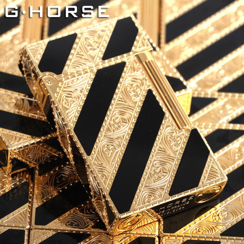 法国ghorse正版纯铜男士朗声打火机充气防风创意原装正品个性礼品