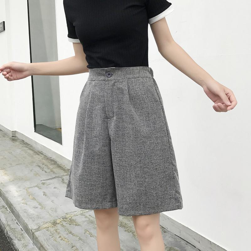 2017新款韩版宽松chic五分裤女夏季韩国ulzzang学生风短裤子中裤