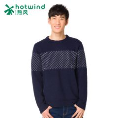 Hot air men's winter new men's Korean version of the slim pullover crewneck sweaters men 08W5901