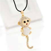 Love the Korean version of monkey long necklace women fashion accessories Korea Joker necklace pendant for fall/winter package mail