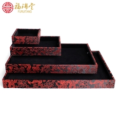 Wenwan display box jewelry bracelets rings clouds view pans black velvet counter display props empty pallets
