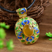 Very Thai cloisonne s925 silver plated female-style Joker-silver mosaic agate gemstone pendant jewelry