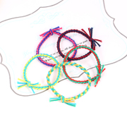 Know Richie Korean color color high elastic rope twist knot handmade hair accessories hair band band