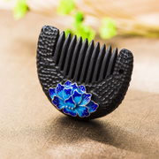 Very Thai temperament vintage cloisonne 925 Silver fashion ladies flower hair comb comb national wind came moaning products
