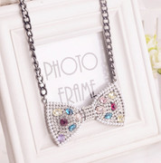 Mail compose good Korean Korea jewelry original bow collar bone short Western necklaces
