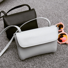 Spring/summer QUEENZZ/2015 the perfect neutral solid colors turned upside down diagonal shoulder bag women bag Korean wave BB234