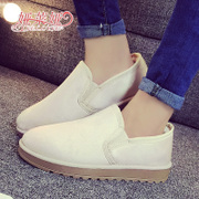 2015 new snow boots women flat-bottom and down to keep warm in winter skid casual student asakuchi short tube women shoes