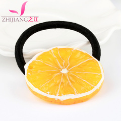 River lemon hair bands made of rope Korea fruit fresh and soft hair tie string small hair bands head jewelry