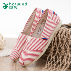 Hot sails shoe shoes summer and spring and autumn when the idle man shoes ladies striped shoe flat Mary shoes 731H15136