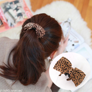 Know Joker NI fashion hair jewelry Korean fabric Leopard print bow to catch gripping clamp banana clips hair clips