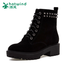 Hot ladies and riveting Martin boots, suede short boots women short boots with flashes 75H5927