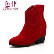 Colored not 2014 autumn Martin authentic designer shoes and boots with pointy boots women boots WHDM58709B