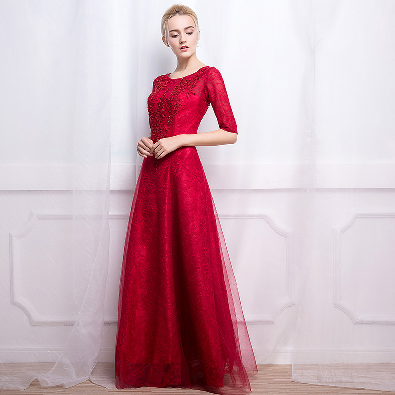 The best wedding dresses for young: Red wedding dress vintage