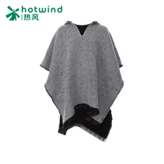 Hot new ladies hooded tassels shawl Cape coat winter warm shawl P061W5404