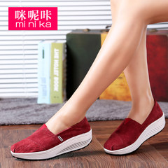 MI Ka fall 2015 new fitness shoe shook shoes platform heels with high comfort casual pigskin shoes