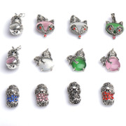 DIY accessories like Tibetan silver jewelry marks match Thai silver Opal Fox head gourd Pixiu pendants