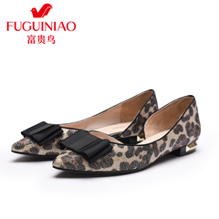 Rich bird spring 2016 designer shoes shoes women shoes with pointed bow low heel flat shoes