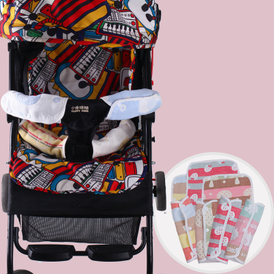 婴儿背带口水巾吮吸带磨牙推车腰凳肩带六层纱布宝宝车配件防咬垫 拍下12.9元包邮