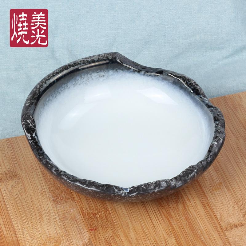 日式料理餐盘菜盘 陶瓷盘子碟子 炒饭盘瓷器 餐厅创意餐具 沙拉碗