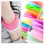 Know Richie new Korean hair accessories-silicone rubber band bracelet hair tie-rope hair headdress fluorescence accessories