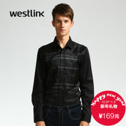 Westlink/West New 2015 winter tide letter cotton gauze mosaic circle set long sleeve shirt
