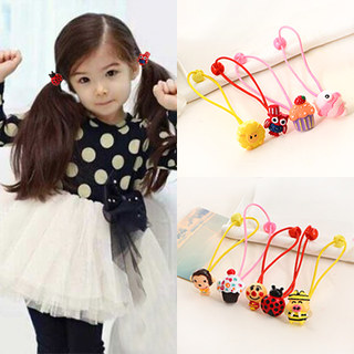 Know Richie children''s hair accessories Korean green painted resin cartoon hair band girls tiara baby string jewelry