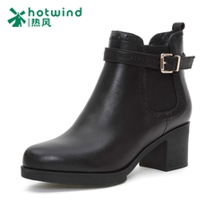 Hot spring and fall/winter new female boomers chunky heels with ankle boots biker boots UK the wind elegant women''''''''s boots H84W5403