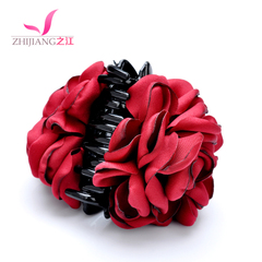 River horsetail hair caught with new flowers fabric large hair clips for vertical clamp Korea hair accessories hair head jewelry