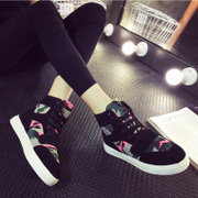 2015 winter season new Korea increased movement within the thick camouflage shoes stealth tide girls high leisure shoes