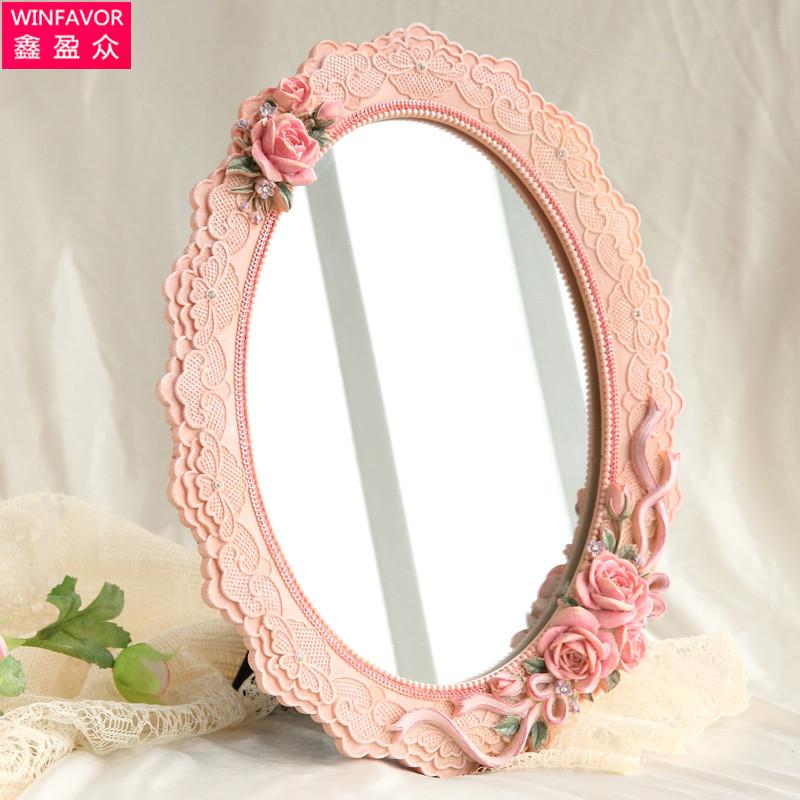 鑫盈众 台式单面镜 便携式随身化妆镜 化妆必备用品 特价包邮
