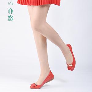 亦悠新款方扣夏季手卷鞋孕妇平底女单舒适尖头浅口开车易携带包邮
