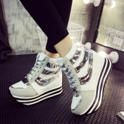 Europe 2015 fall/winter new style sports shoes women shoes high heel shoes increased high platform shoes and leisure boom