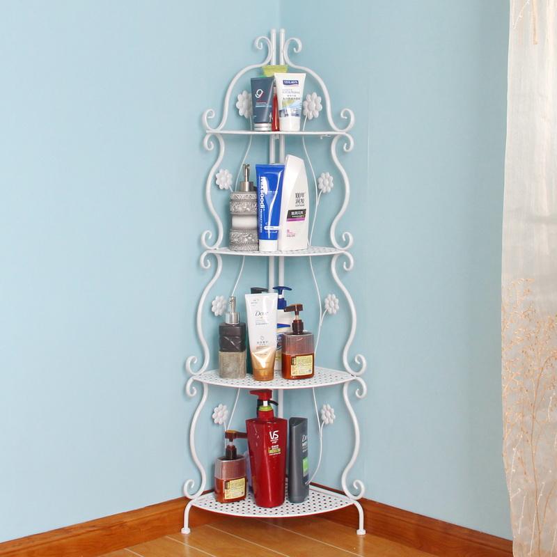 艺难忘浴室置物架卫生间三角落地角架铁艺卫浴洗手间墙角收纳储物