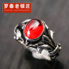 Chandos vintage Thai silver ring 925 Silver jewelry old silversmith single male European fashion personality index finger ring