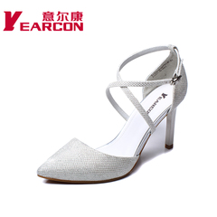 YEARCON/er Kang shoes spring/summer 2015 new stylish and elegant cross-strap stiletto pointed women's shoes