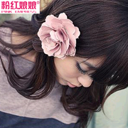 Niang Niang authentic Korean jewelry brooch, pink soft flower hair clip brooch women hair ACC