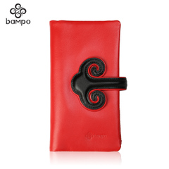 Bampo/the Banpo Neolithic village decorated authentic female header layer of leather women wallet leather large zip around wallet