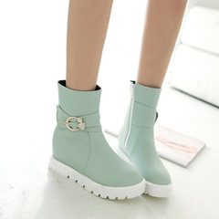 2015 winter season new boots platform platform wedges and raw sweet bow rhinestone boots ankle boots casual shoes