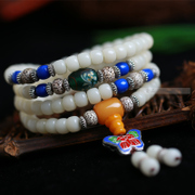 Bodhi in the rehabilitation of natural white bracelets Tibetan 108 beads couple models in Candida albicans original seed agate bracelet for men and women